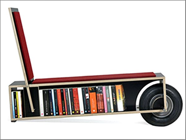 Portable mobile Bookshelf automated home furniture