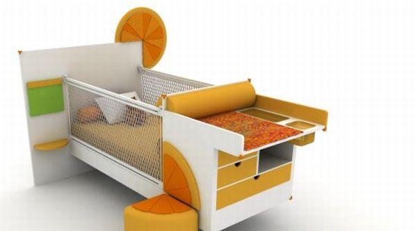 Portakal convertible bed
