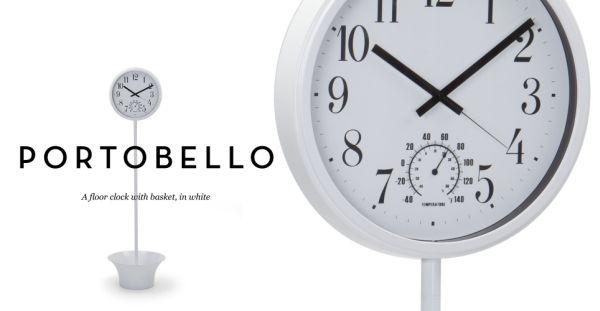 Portobello Floor Clock With Basket