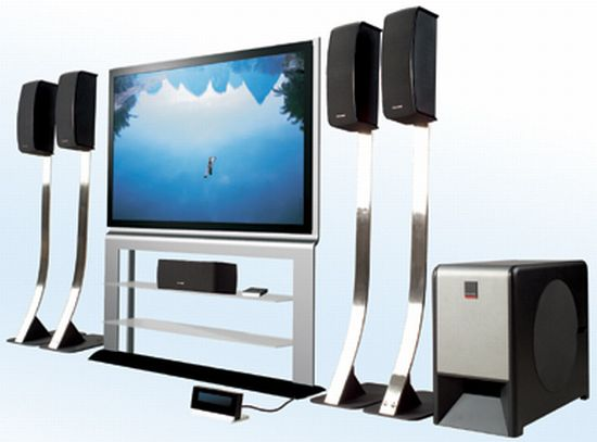 powerful home theater system with multimedia speak