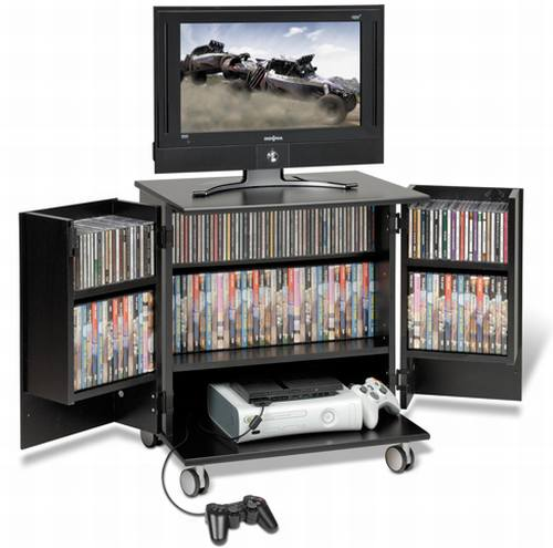 Prepac Mobile Gaming Cart TV Stand Hometone Home