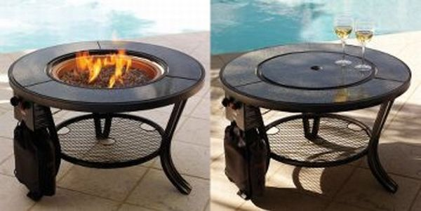 Propane firepit cocktail table