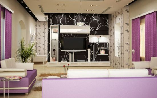 Color Glory:Royal Purple shade for extravagant interiors