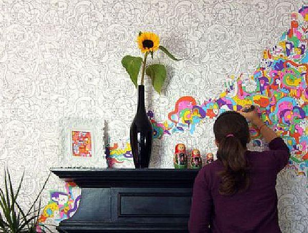 Put up wallpaper