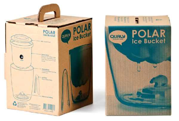 Qualy Polar Bear Ice Bucket