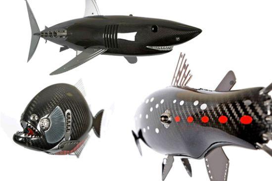 racing fish sculptures
