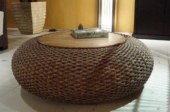 Rattan Hyacinth Iron Chair