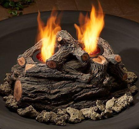 real flame log set