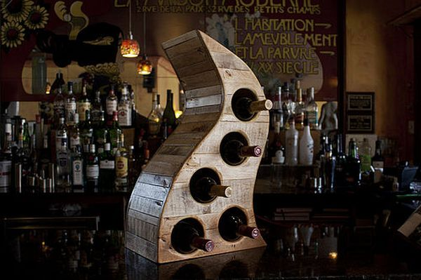 Reclaimed Table Top Wooden Wine Rack