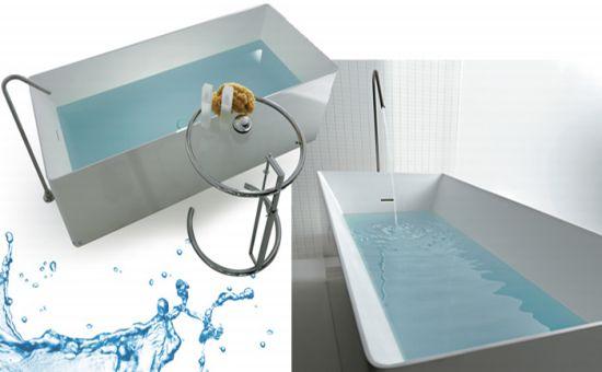 rectagular tub hastling tiles