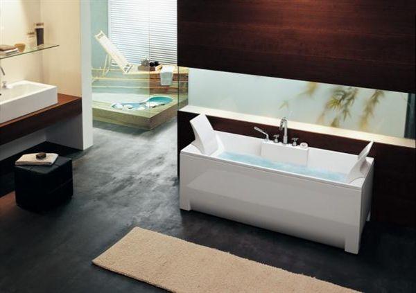 rectangular stylish contemporary bathtubs