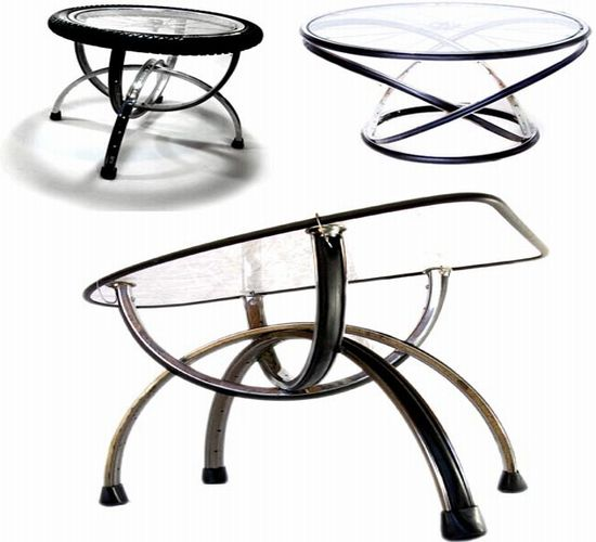 recycled glass coffee tables