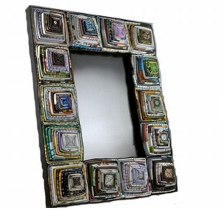 recycled magazine frame