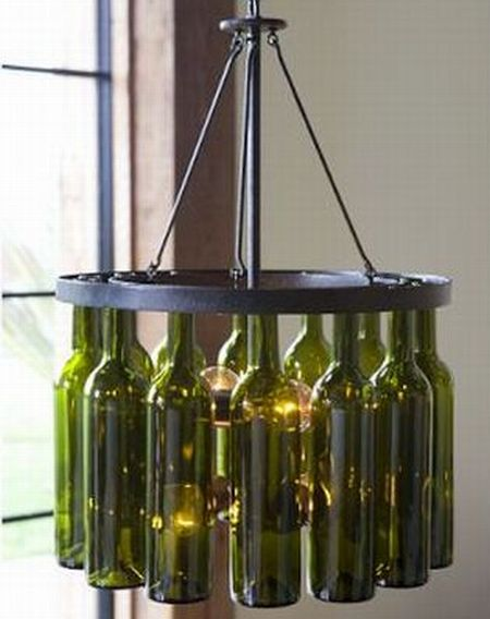 Recycled wine bottles: Home decor on a high
