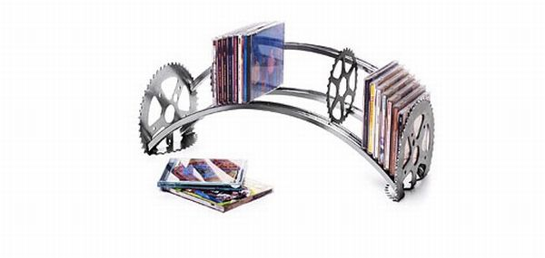 Recycled CD Rack
