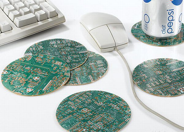 Recycled Motherboard Coasters