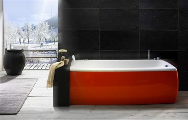 red and white stylish contemporary bathtubs