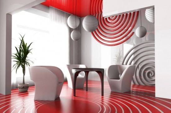 red white themed interior2