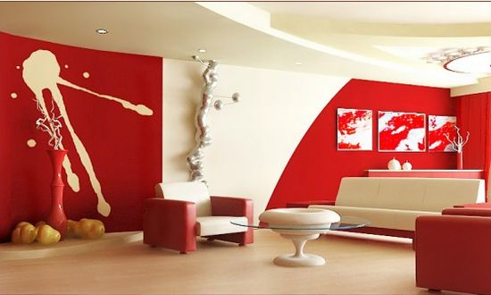 red white themed interior3