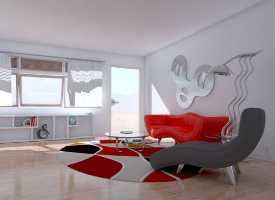 red white themed interior4