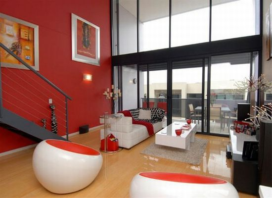 red white themed interior5