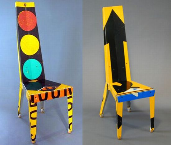 road sign transit chair