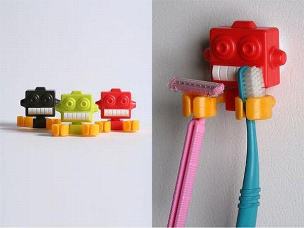 Robot Toothbrush Holder