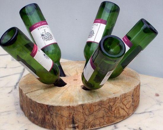 rustic pine wine rack2