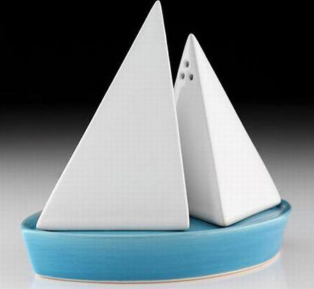 sailboat salt and pepper shaker