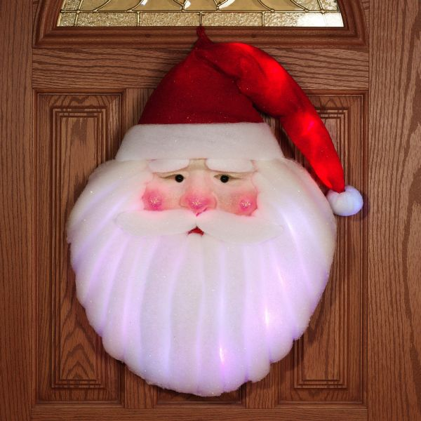 Santa Claus Lighted Wall Hanging