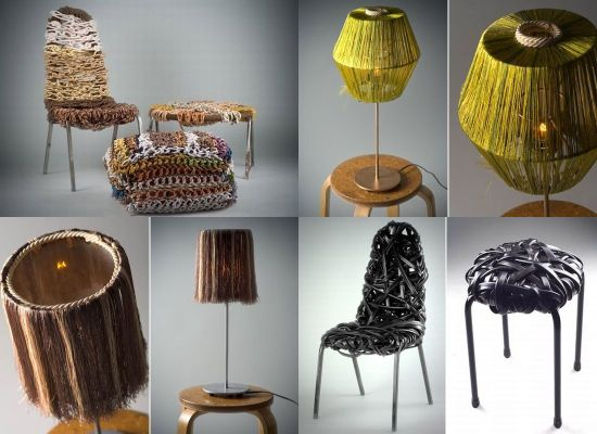 Innovative constructive furniture made from scraps for Make items from waste material
