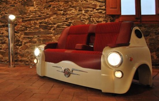 car recycled to form hi tech seating for home hometone. Black Bedroom Furniture Sets. Home Design Ideas