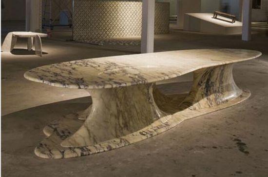 serene pebble marble table1
