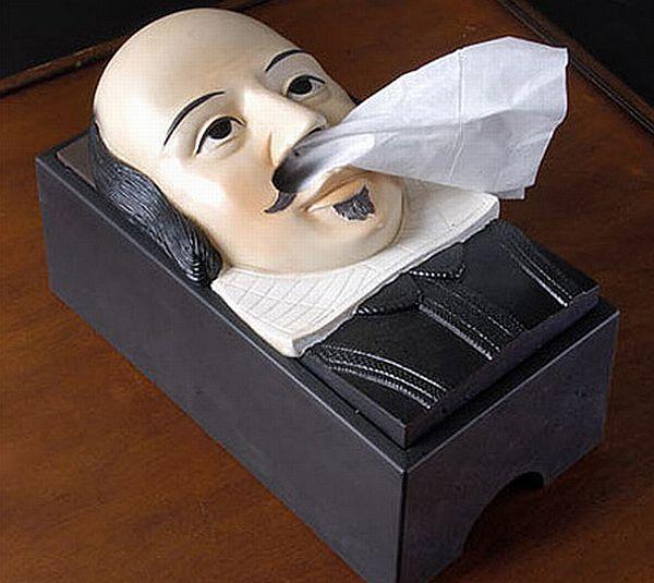 Shakespeare Tissue Box