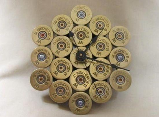 shotgun shell wall clock