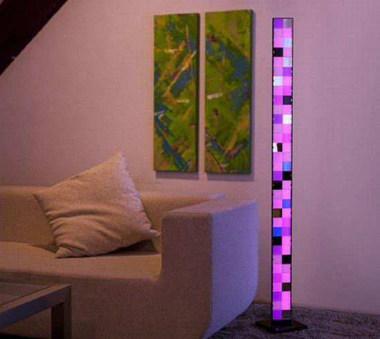simple luna floor lamp interior lighting