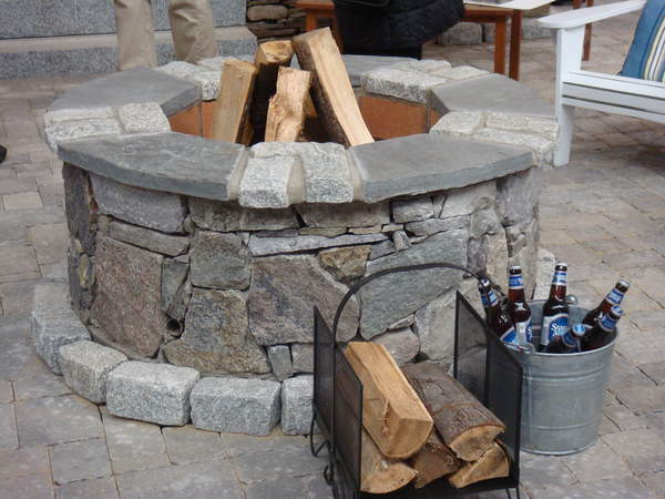 Simple outdoor fire place