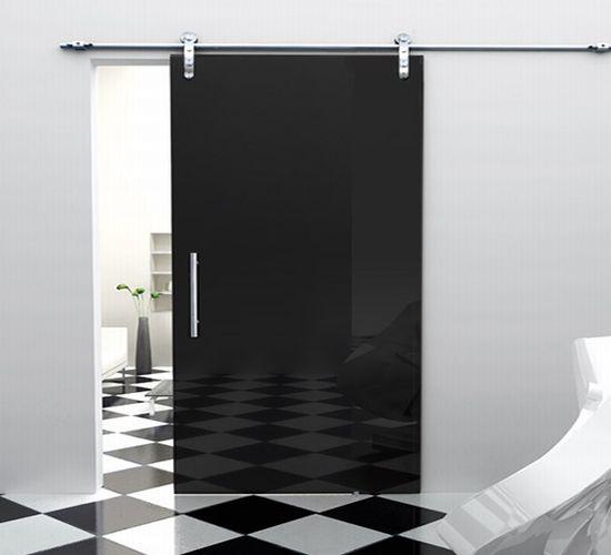 single sliding black door foaporte ZfpJe 1822