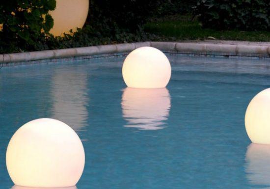 slide swimming pool lights