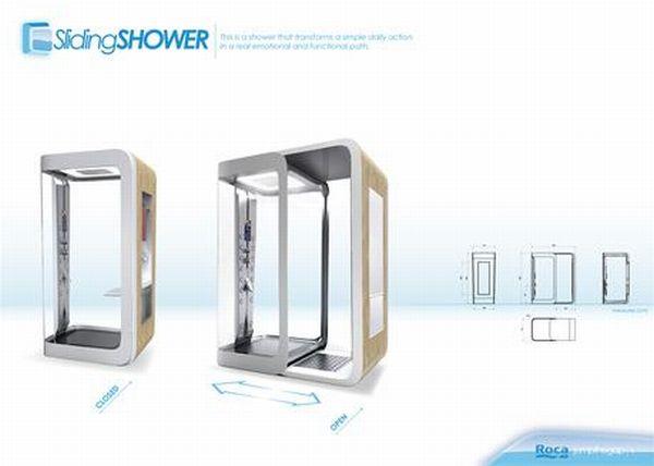 Sliding Shower by Mario Ginevro