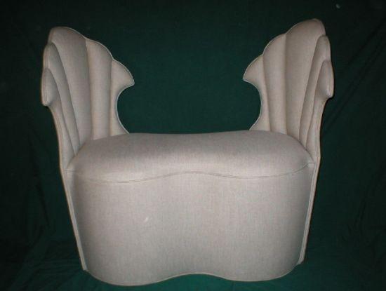 slipper chair bench