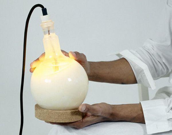Slow glow bulb