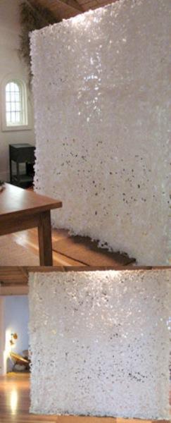 Snowfall room divider