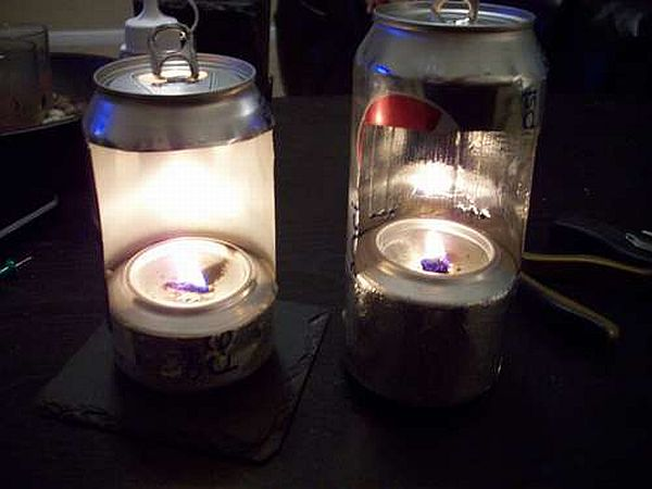 Soda Can Oil Lantern