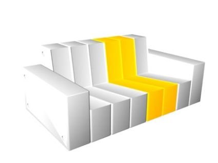 sofa modulable my blanc jaune