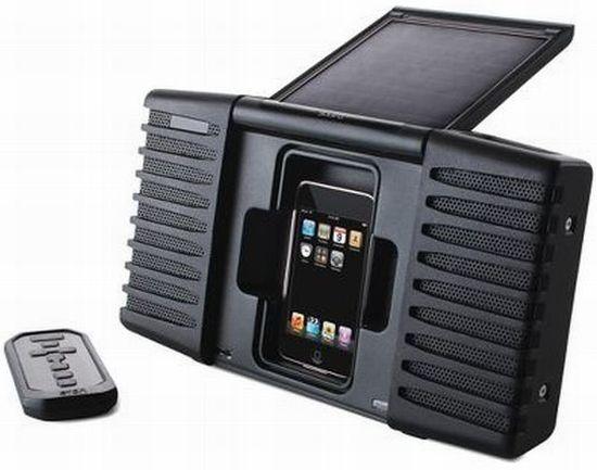solar ipod speaker