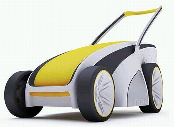 Solar Electric Lawnmower