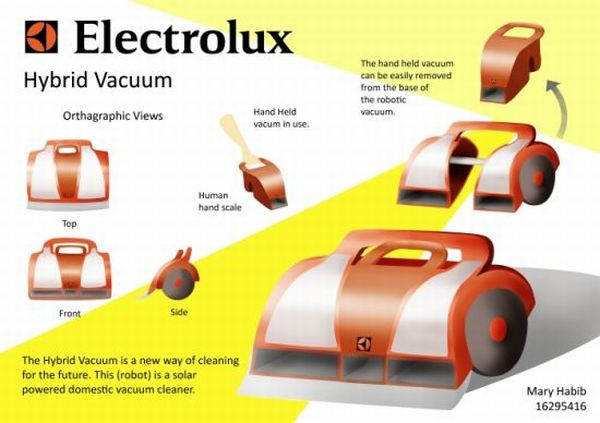 Solar powered robotic vacuum