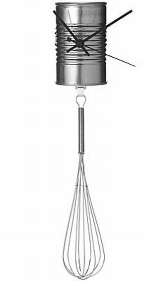 soupcan with whisk pendulum clock