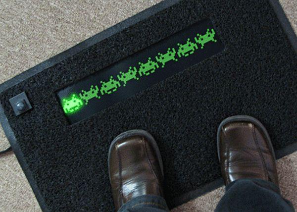 Space invaders door mat